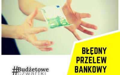 Błędny przelew bankowy
